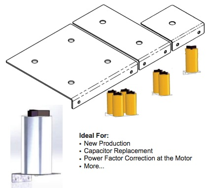 THREE OR FOUR CAPACITOR L-BRACKET